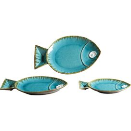 3-Piece Fish Tray Set