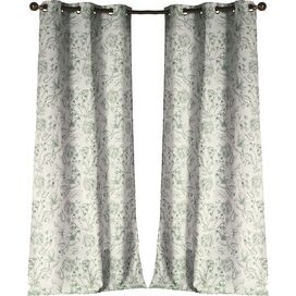 Marcie Curtain Panel in Green (Set of 2)