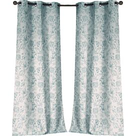 Marcie Curtain Panel in Teal (Set of 2)