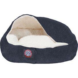 Snuggler Pet Bed in Navy Wales