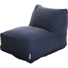 Wallace Indoor/Outdoor Beanbag Chair in Navy
