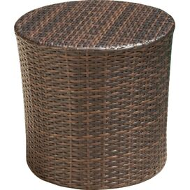 Sampson Indoor/Outdoor Side Table in Brown