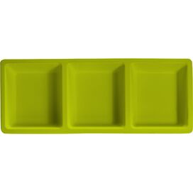 Izzy Melamine Serving Tray in Green