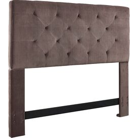 Adaline Upholstered Headboard in Chocolate