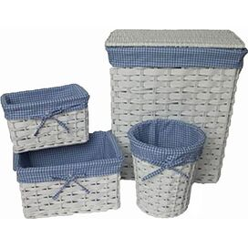 4-Piece Tina Lined Storage Set