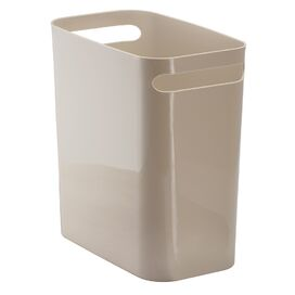 Double-Handled Wastebasket in Taupe