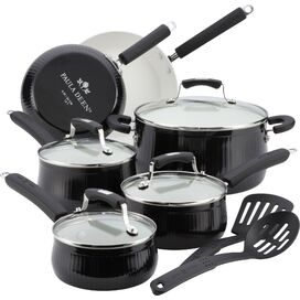Paula Deen 12-Piece Cookware Set in Black