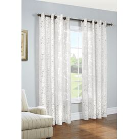 Charlotte Curtain Panel in White
