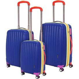 3-Piece Missy Rolling Suitcase Set in Blue