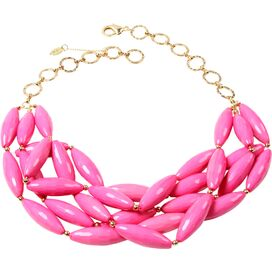 Nathalie Necklace in Hot Pink