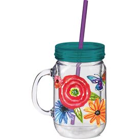 Bloom Drinking Jar