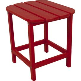 South Beach Patio Side Table in Sunset Red
