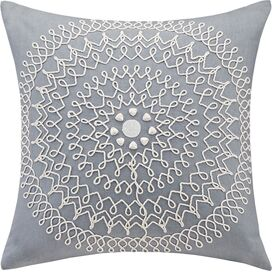 Medallion Embroidered Pillow