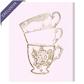 Tea Time Canvas Print, Oliver Gal