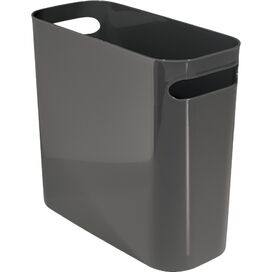 Plastic Wastebasket in Slate