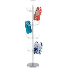 4-Tier Shoe Rack in Chrome