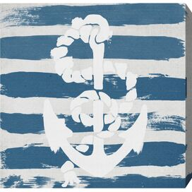 Anchored To The Ocean Blue Canvas Print, Oliver Gal