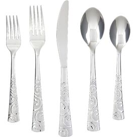 20-Piece Bayshore Stainless Steel Flatware Set