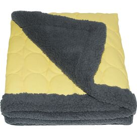 Elmo Water-Repellent Throw in Pale Yellow