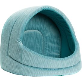 Misty Igloo Pet Bed in Turquoise