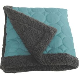 Elmo Water-Repellent Throw in Turquoise