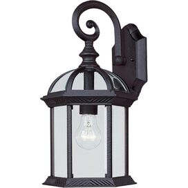 Katelynn Outdoor Wall Lantern in Textured Black