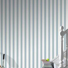 Stripe Wallpaper in Sky Blue
