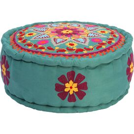 Tania Embroidered Pouf