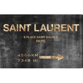 Saint Sulpice Road Sign Canvas Print, Oliver Gal