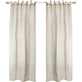 Stripe Tie-Top Curtain Panel
