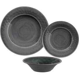 12-Piece Delia Melamine Dinnerware Set