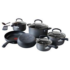 10-Piece Hard Anodized Cookware Set