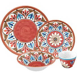 16-Piece Paloma Melamine Dinnerware Set