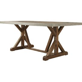 Warner Dining Table in Gray