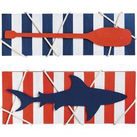 Shark & Oar Wall Decor (Set of 2)
