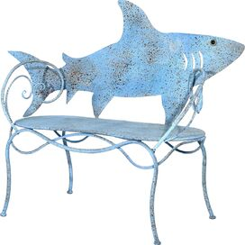 Shark Garden Bench