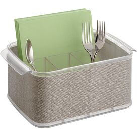 5-Compartment Plastic Cutlery Caddy