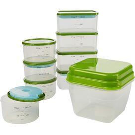 18-Piece Smart Portion Container Set