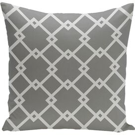Trellis Pillow in Grey