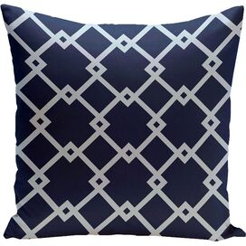 Trellis Pillow in Navy Blue