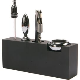 5-Piece Wine Accessory Set with Stand