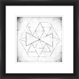 Geometric Framed Giclee Print I