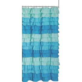 Lillian Shower Curtain in Blue