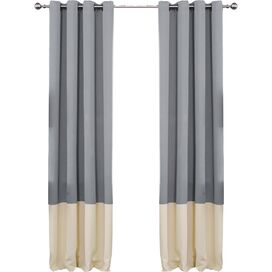 Arlington Blackout Curtain Panel in Gray & Beige (Set of 2)