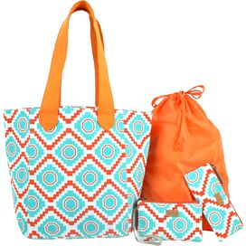 4-Piece Nomad Tote Set in Mint