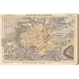 Edinburgh 1883 Map Canvas Print, Oliver Gal