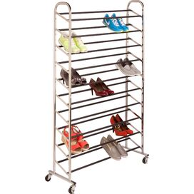 50-Pair Rolling Shoe Tower
