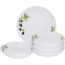 5-Piece Olive Porcelain Pasta Set