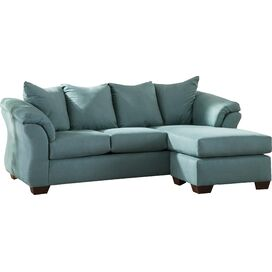 Sadie 89'' Sectional Sofa in Sky