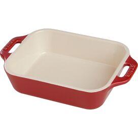 """Staub 7.5"""" Baking Dish in Cherry"""